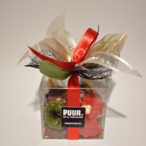 Doosje Kerstchocolade van Puur IJs & Chocolade Heerenveen